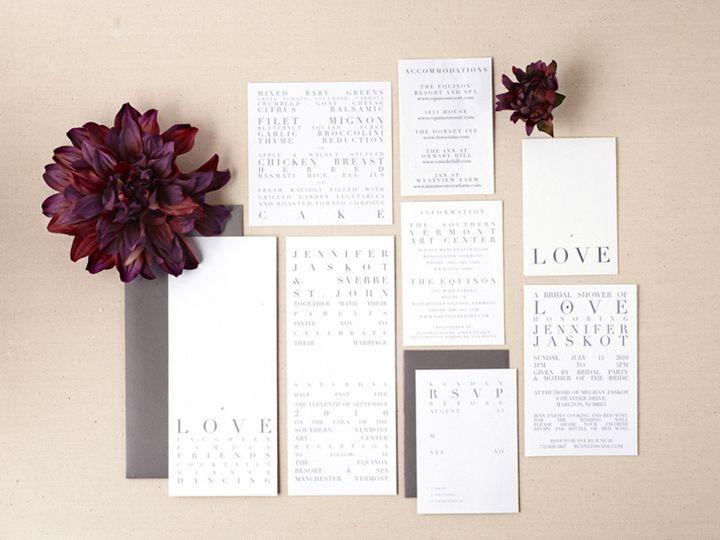 Tmx Modern Typeography Wedding Invitation Suite 51 405360 Pittstown, NJ wedding invitation