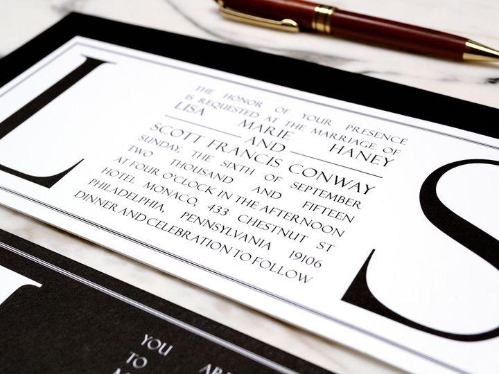Tmx Modern Typography Blackandwhite Invitation 51 405360 Pittstown, NJ wedding invitation