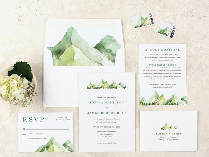 Tmx Mountain Wedding Invitation Suite 51 405360 Pittstown, NJ wedding invitation