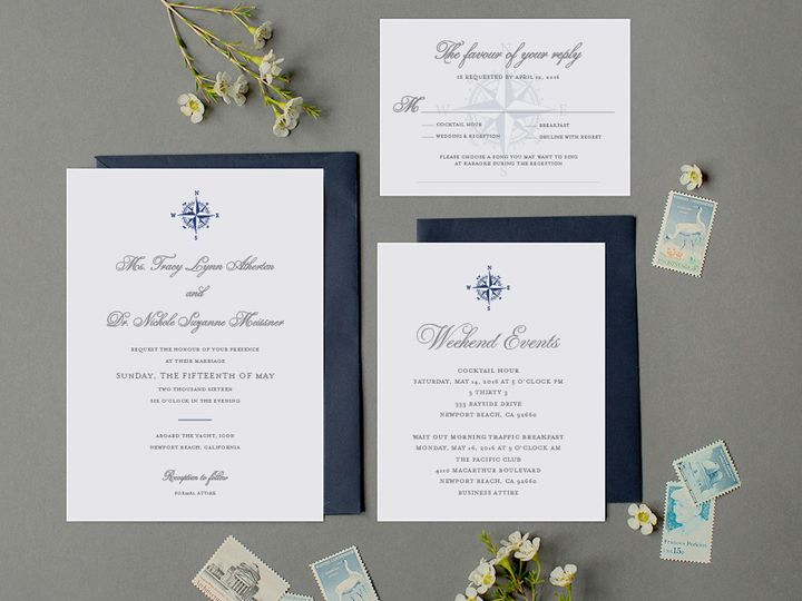 Tmx Nautical California Wedding Invitation 51 405360 Pittstown, NJ wedding invitation