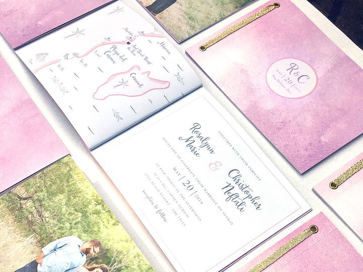 Tmx Playa Del Carmen Wedding Invitation Booklet 51 405360 Pittstown, NJ wedding invitation