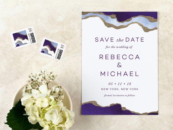 Tmx Purple Agate Savethedate 51 405360 Pittstown, NJ wedding invitation