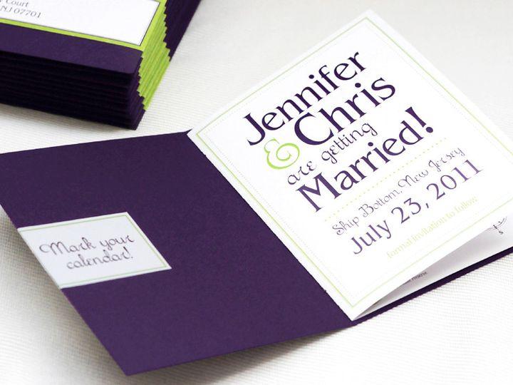 Tmx Purple Green Save The Date Booklet7 51 405360 Pittstown, NJ wedding invitation