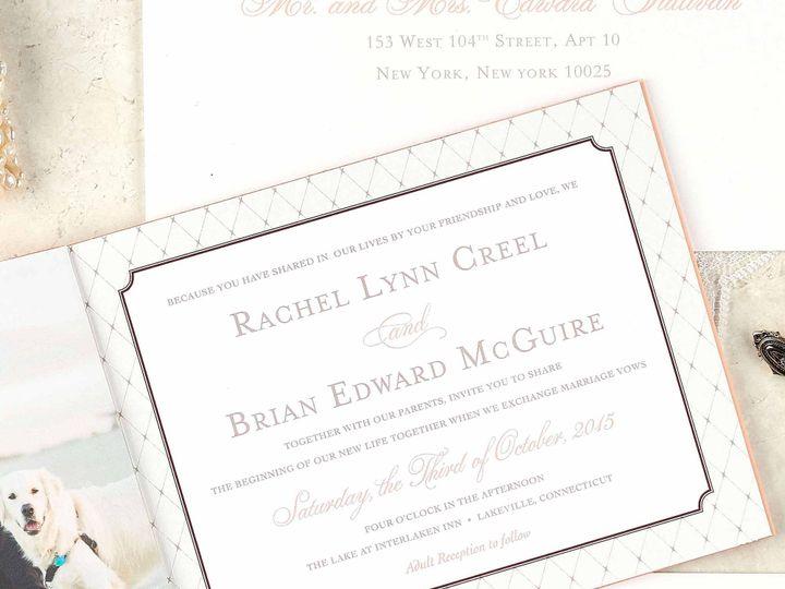 Tmx Romantic Antique Vintage Wedding Invitation Booklet 2 51 405360 Pittstown, NJ wedding invitation
