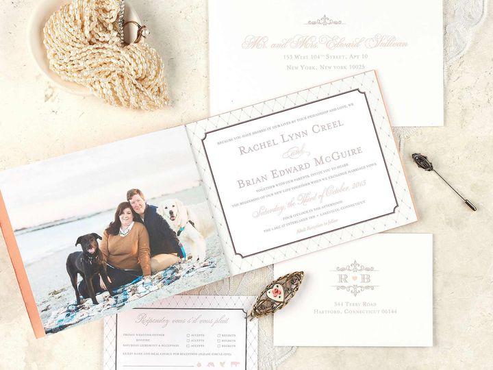 Tmx Romantic Antique Vintage Wedding Invitation Booklet2 51 405360 Pittstown, NJ wedding invitation