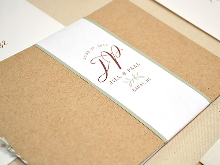 Tmx Rustic Hawaiian Wedding Invitation Booklet 51 405360 Pittstown, NJ wedding invitation