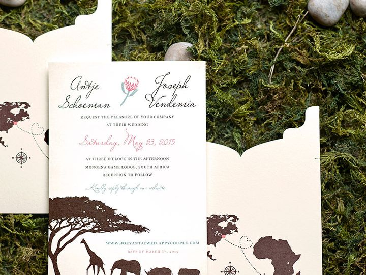 Tmx South African Safari Wedding Invitation 51 405360 Pittstown, NJ wedding invitation