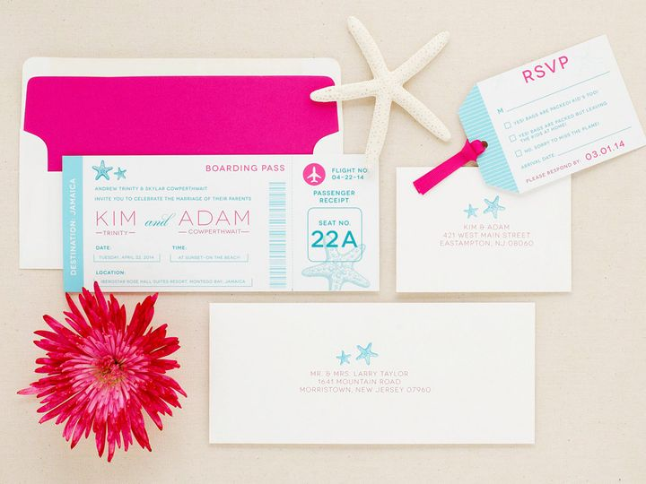 Tmx Travel Destination Wedding Invitation Ticket 51 405360 Pittstown, NJ wedding invitation