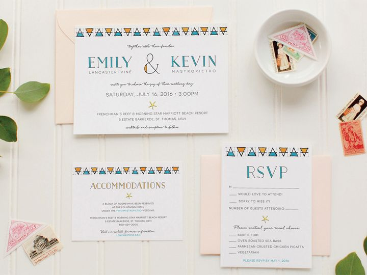 Tmx Triangle Custom Wedding Invitation 51 405360 Pittstown, NJ wedding invitation