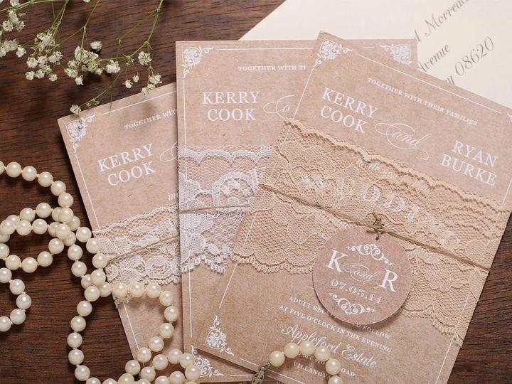 Tmx Vintage Lace Wedding Invitation 51 405360 Pittstown, NJ wedding invitation