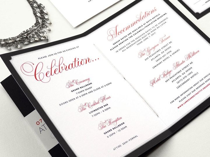 Tmx Wedding Invitation Booklet Atlantawedding 51 405360 Pittstown, NJ wedding invitation