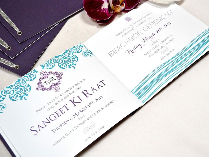 Tmx Wedding Invitation Booklet Destination Thailand 51 405360 Pittstown, NJ wedding invitation