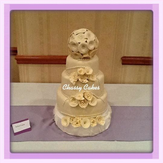 Edible roses and cake topper made by your truly