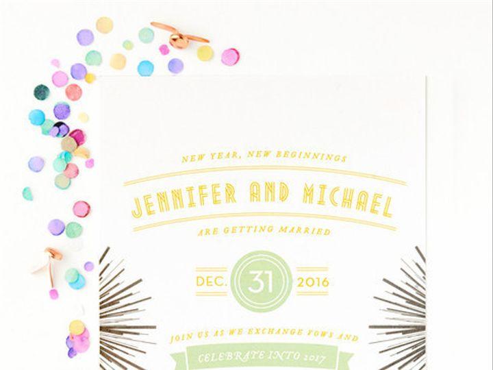 Tmx 1428638741509 Freshcollectionnothingbutfireworkswebgrande La Jolla, CA wedding invitation
