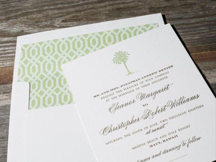 Tmx 1428638755869 Palmetto 21 576x576 La Jolla, CA wedding invitation
