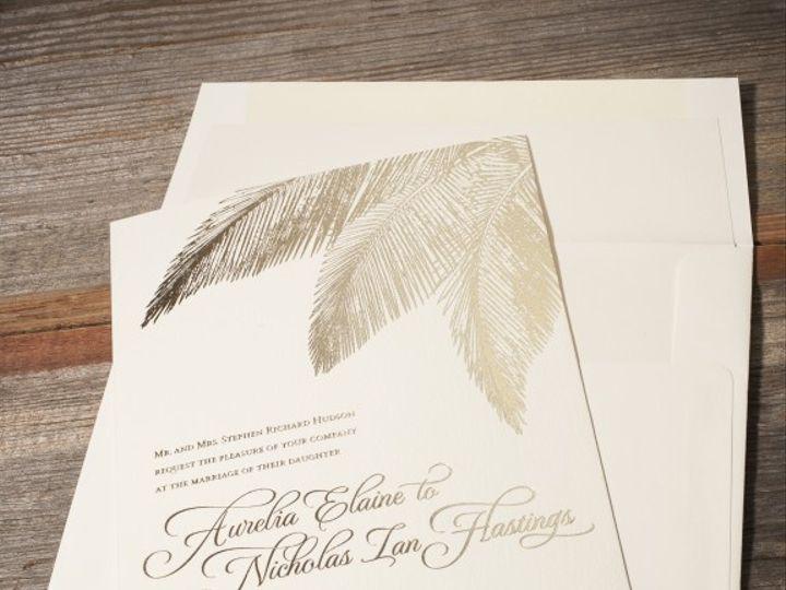 Tmx 1428638773898 Traditional Palm3 576x576 La Jolla, CA wedding invitation
