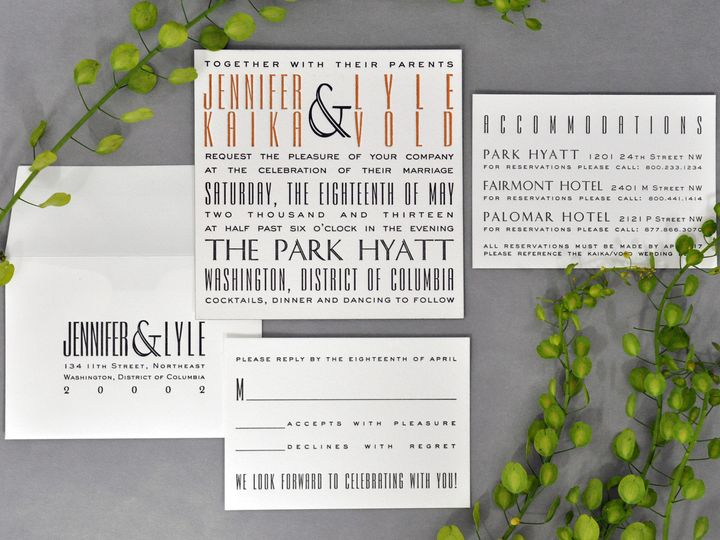 Tmx 1434568440190 Haute Papier   Weddinginvitation La Jolla, CA wedding invitation