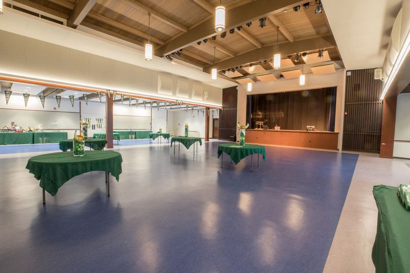 Event space includes a stage complete with professional lighting and retractable video screen.  The...