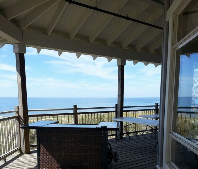 This beautiful, Lake Michigan view is from one of our catering events at Camp Blodgett, just south...
