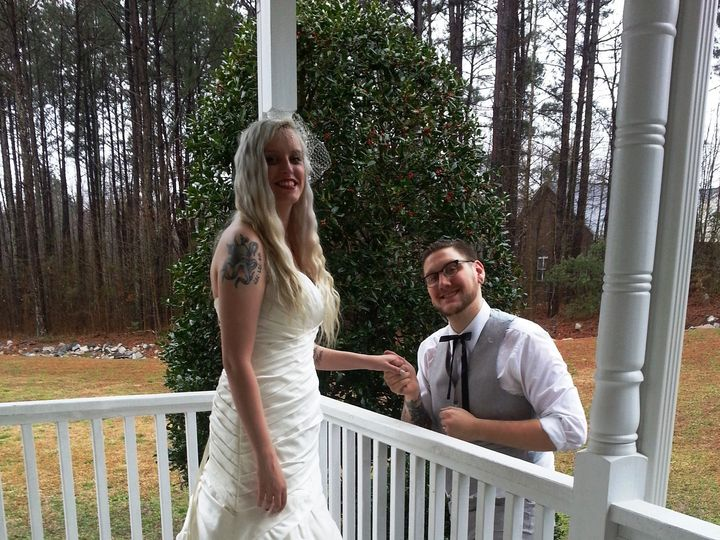Tmx 1426470270108 Bride  Groom On The Porch Raleigh, North Carolina wedding officiant