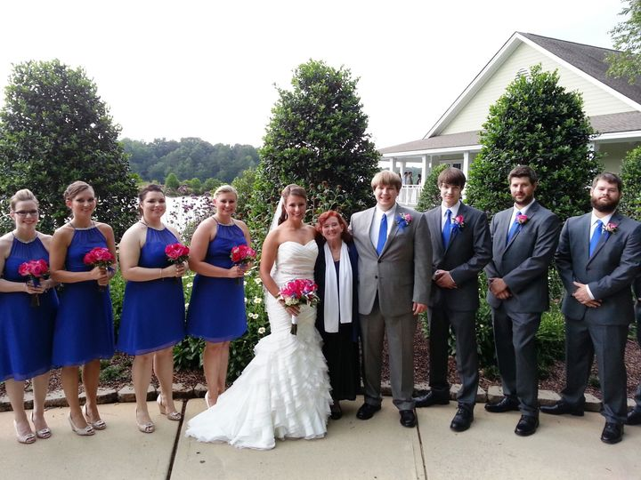 Tmx 1435788236923 The Wedding Party Poses With Me Raleigh, North Carolina wedding officiant