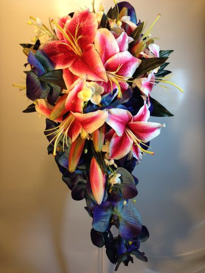 This bridal bouquet where the bride gave me a photo of what she wanted, and I re-created it in both...