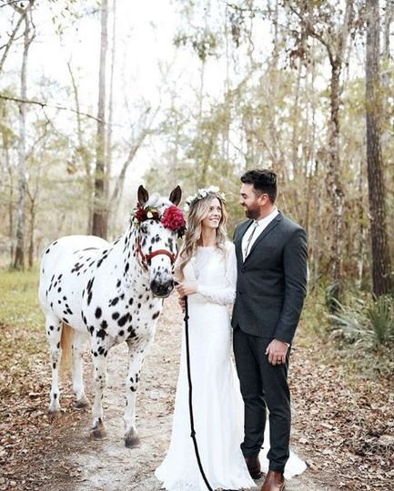 Bride is wearing Wilderly Bride gown, Marigold. Styled by Ivory & Lace Bridals. Photographer: C....