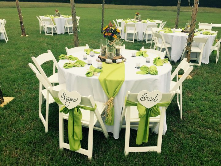 Green table decor