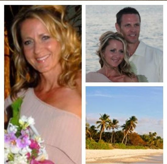 A beach wedding! We started with blow out to withstand the humidity. She wanted timeless hair and...