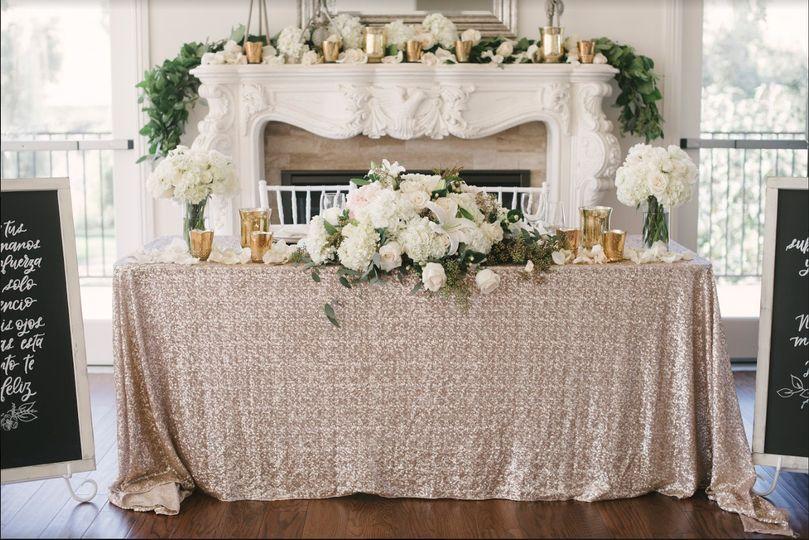 The cream wedding cloth