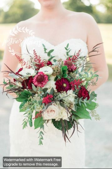Elaine's gorgeous bouquet with depth and lots of texture
