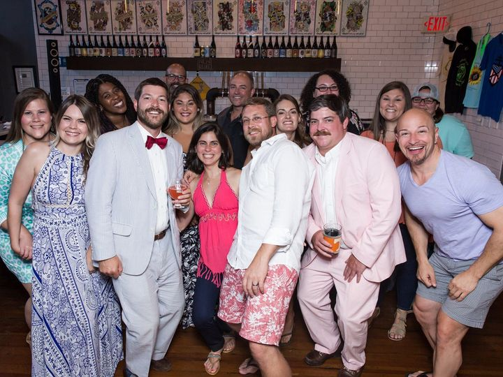 Tmx Bowtiedbrews 2019 Groupshot 51 712460 158766878787778 Richmond, VA wedding dj
