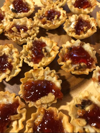 Brie with Fresh Raspberry Cups