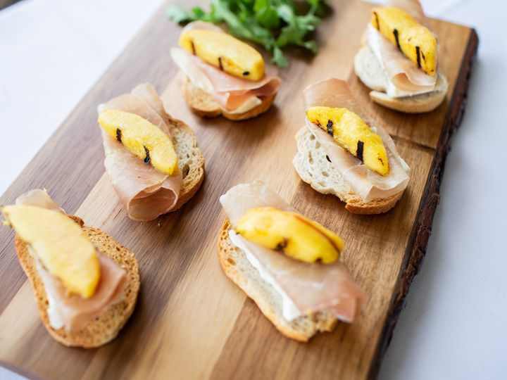 Tmx V Grilled Pear Brie Proscuitto Crostini 51 532460 1573152377 Mount Pleasant, SC wedding catering
