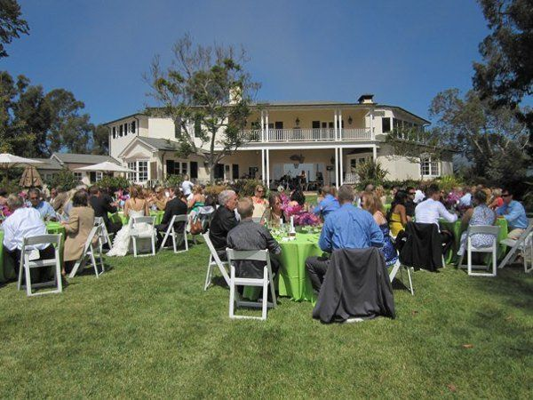 Outdoor reception luncheon at private residence that Margie Nelson Jazz Group provided music for.