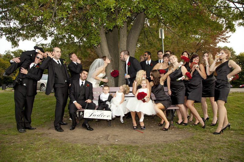 A lively wedding party