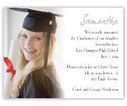 Graduation invitations with picture of graduate.