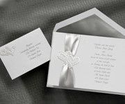 Wedding invitations with ribbons (Multiple colors)