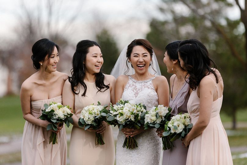 Fun loving bridal party