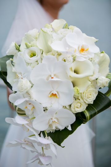 Tropical orchid bridal bouquet