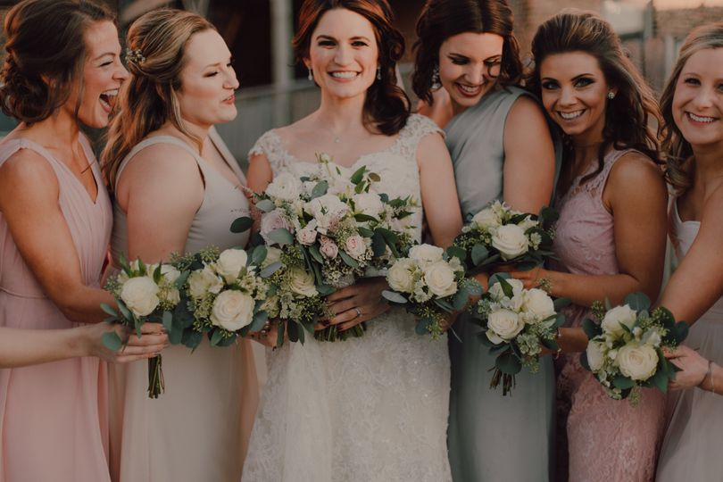 Cream and Blush Bouquets