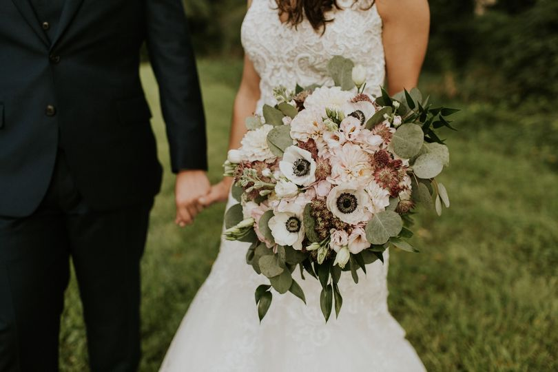 Mauve and blush bouquet