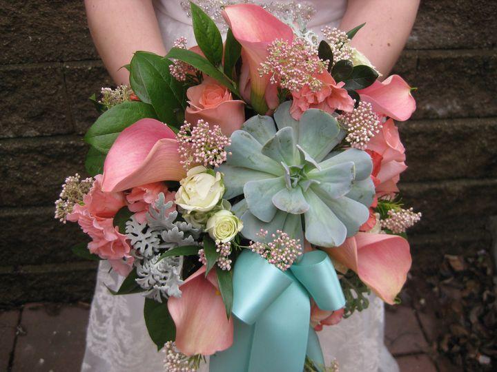 Bouquet with a succulent
