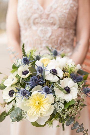 Navy Accents Bridal Bouquet