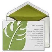 Captivating Palm Leaf Wedding Invitation  Description: A modern twist on a tropical theme gives...