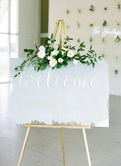 Grey Acrylic Welcome Sign