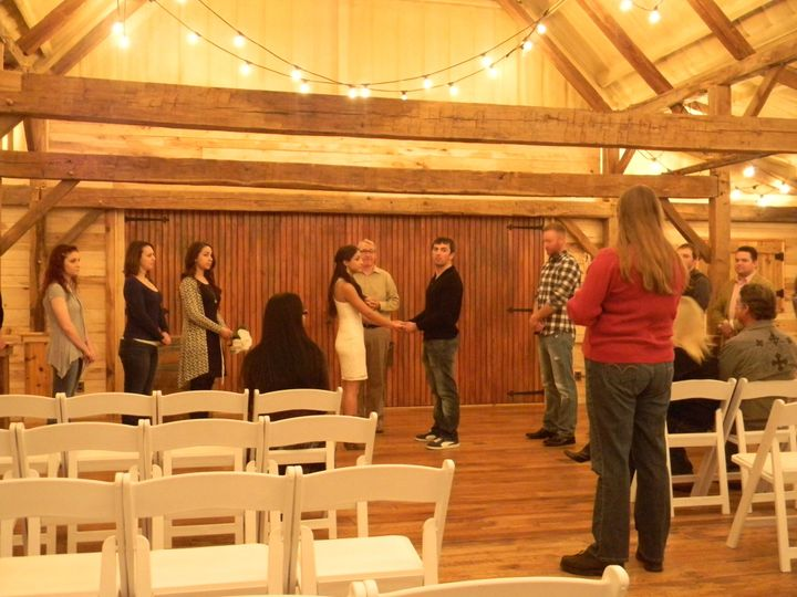 We attend and coordinate the actual wedding ceremony. One of the perks of a DJ/Coordinator combo....