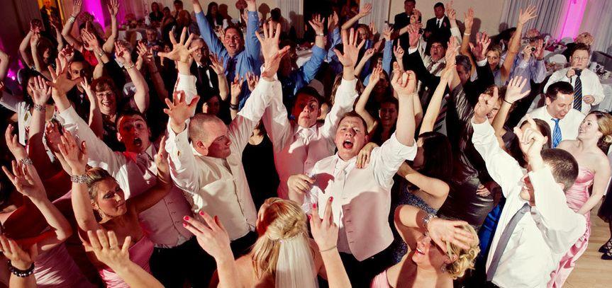 wedding dance crowd pink