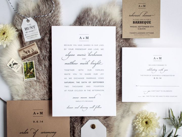 Tmx 1446656383946 Alyssamatt 4000 Traverse City, Michigan wedding invitation