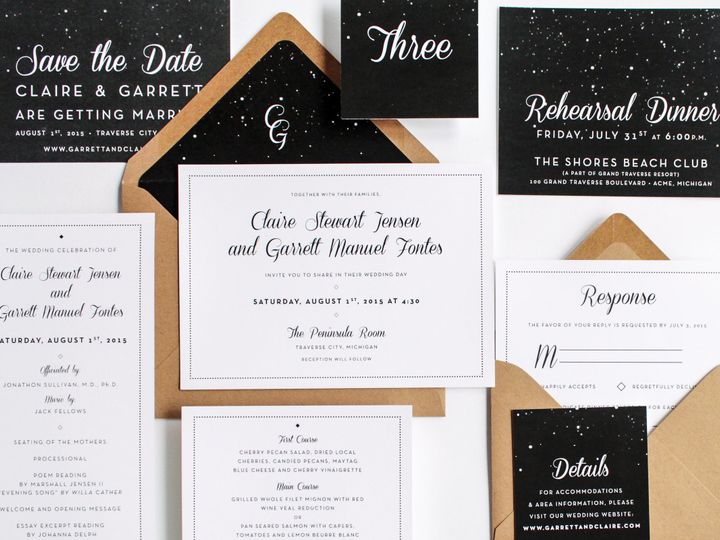 Tmx 1446656633926 Clairegarrett 3982 Traverse City, Michigan wedding invitation